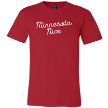 Minnesota Nice Script Men's Tee in Red