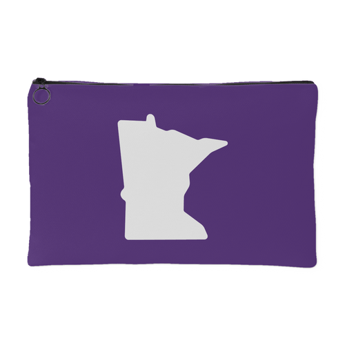 Minnesota Accessory Pouch in Purple and White Small