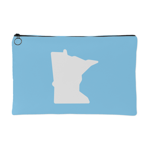 Minnesota Accessory Pouch in Baby Blue and White Small