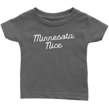 Minnesota Nice Script Infant Tee in Asphalt