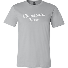 Minnesota Nice Script Men's Tee in Grey