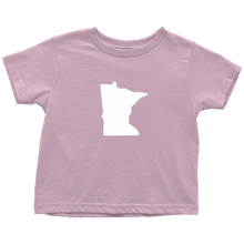 Minnesota Toddler Tee in Light Pink