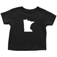 Minnesota Toddler Tee in Black