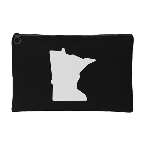 Minnesota Accessory Pouch in Black and White Small