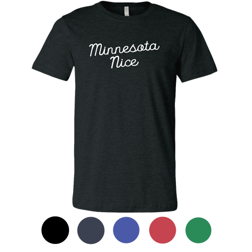 Minnesota Nice Script Men's Tee in Heather