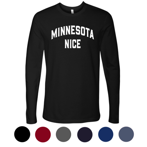 Minnesota Nice Block Men's Long Sleeve Tee