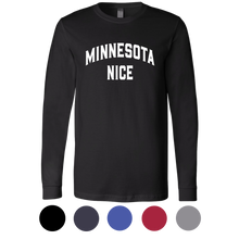 Minnesota Nice Block Men's Long Sleeve Tee with Rib Cuffs