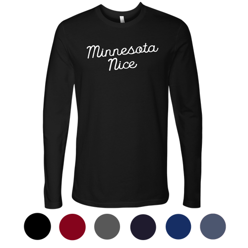 Minnesota Nice Script Men's Long Sleeve Tee