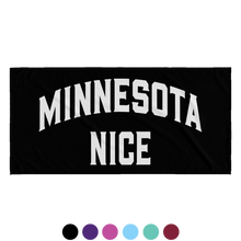 Minnesota Nice Block Beach Towel