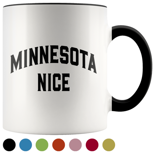 Minnesota Nice Block Accent Mug