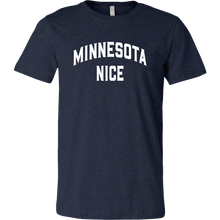 Minnesota Nice Block Men's Tee in Heather Navy Blue