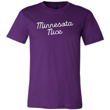 Minnesota Nice Script Men's Tee in Purple