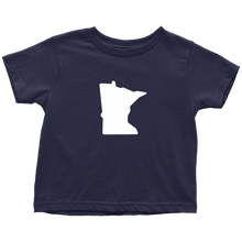 Minnesota Toddler Tee in Navy Blue
