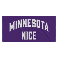 Minnesota Nice Block Towel in Purple and White