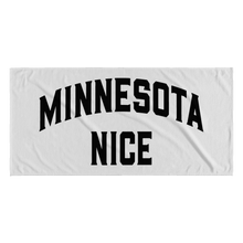 Minnesota Nice Block Towel in White and Black