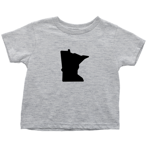 Minnesota Toddler Tee in Heather Grey
