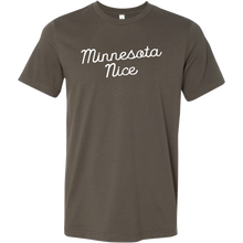 Minnesota Nice Script Men's Tee in Army