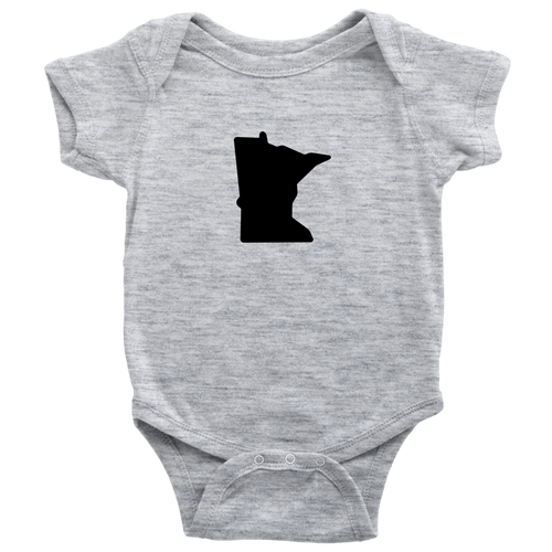 Minnesota Baby Onesie in Heather Grey