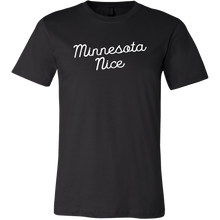 Minnesota Nice Script Men's Tee in Black