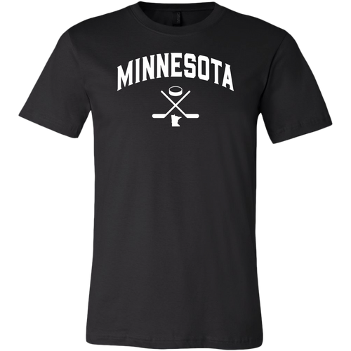 Minnesota Hockey Men's Tee in Black