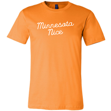 Minnesota Nice Script Men's Tee in Orange