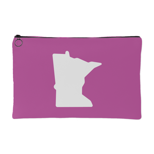 Minnesota Accessory Pouch in Pink and White Small