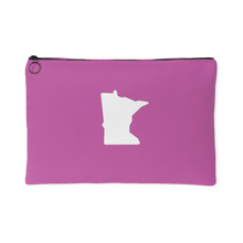 Minnesota Accessory Pouch in Pink and White Large