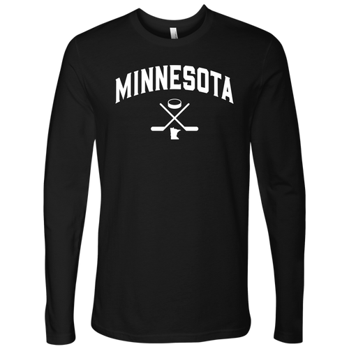 Minnesota Hockey Men's Long Sleeve Tee in Black