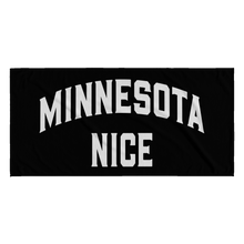Minnesota Nice Block Towel in Black and White