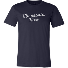 Minnesota Nice Script Men's Tee in Navy Blue