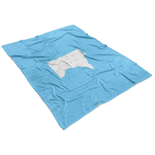 Minnesota Fleece Blanket in Baby Blue and White View