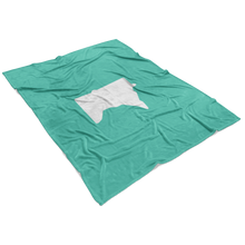 Minnesota Fleece Blanket in Mint and White View