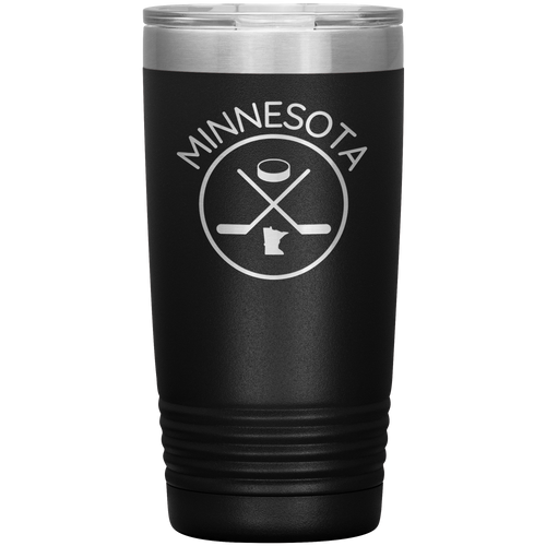 Minnesota Hockey Vacuum Tumbler in Black