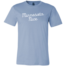 Minnesota Nice Script Men's Tee in Baby Blue