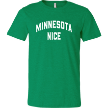 Minnesota Nice Block Men's Tee in Heather Green