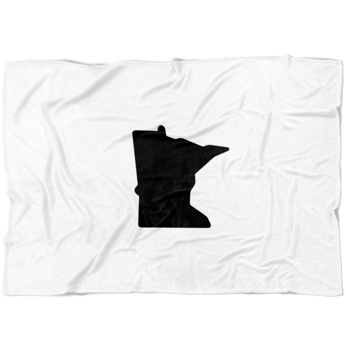 Minnesota Fleece Blanket in White and Black