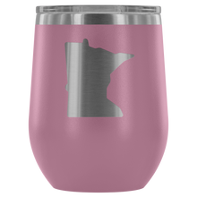 Minnesota Wine Tumbler in Light Purple