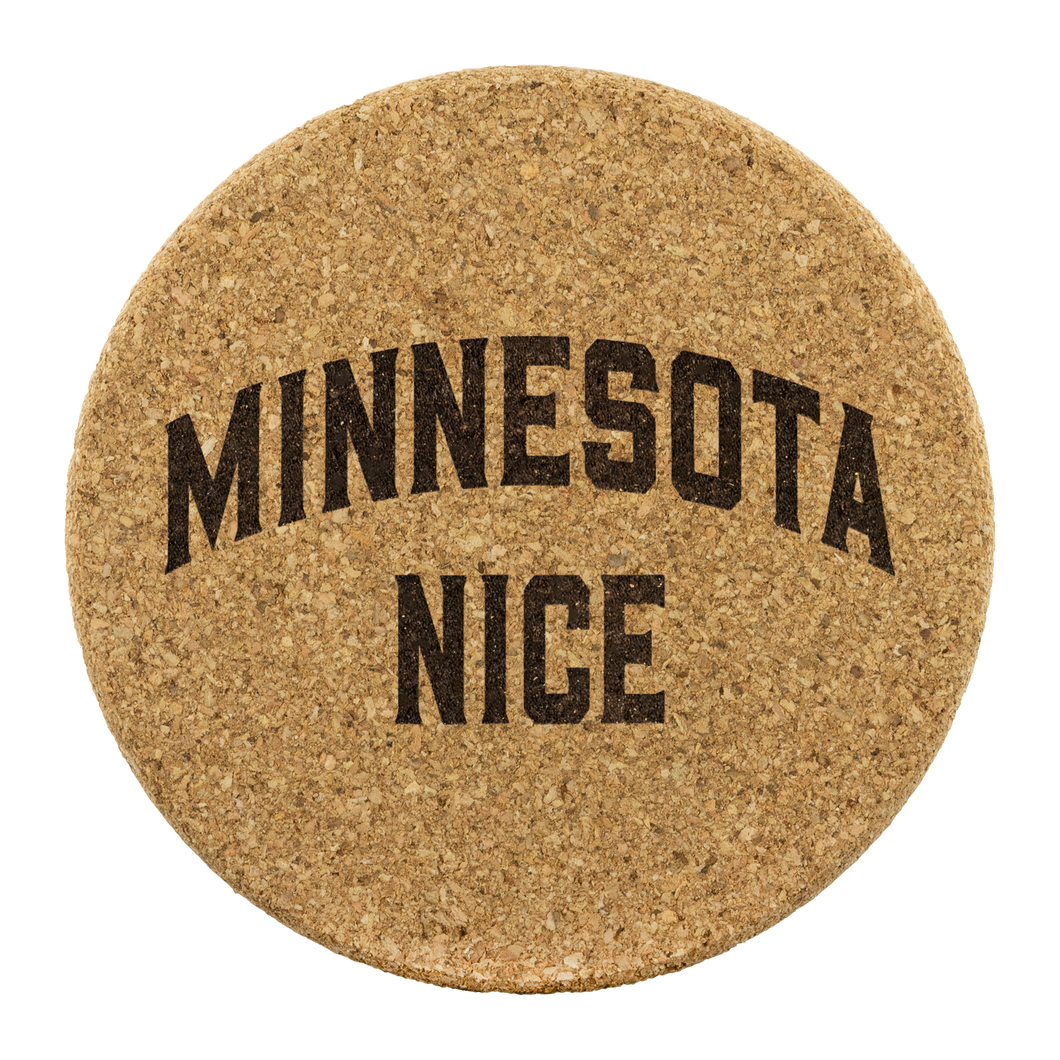 Minnesota Nice Block Cork Coaster