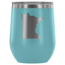 Minnesota Wine Tumbler in Light Blue