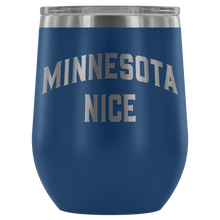 Minnesota Nice Block Wine Tumbler in Blue