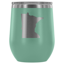 Minnesota Wine Tumbler in Teal