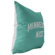 Minnesota Nice Block Pillow in Mint and White Side