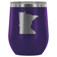 Minnesota Wine Tumbler in Purple