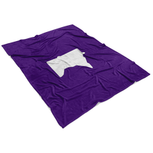 Minnesota Fleece Blanket in Purple and White View