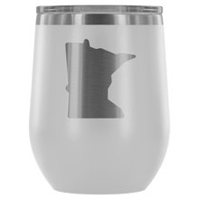 Minnesota Wine Tumbler in White