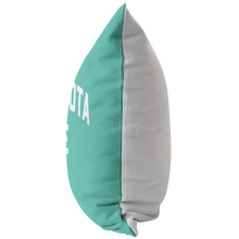 Minnesota Nice Block Pillow in Mint and White Side View