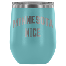 Minnesota Nice Block Wine Tumbler in Light Blue