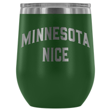 Minnesota Nice Block Wine Tumbler in Green