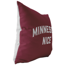 Minnesota Nice Block Pillow in Maroon and White Side