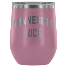 Minnesota Nice Block Wine Tumbler in Light Purple